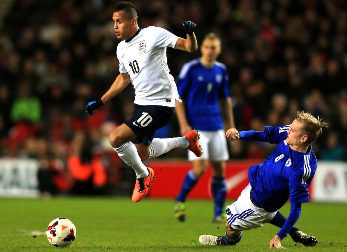 Ravel Morrison playing for England under 21's